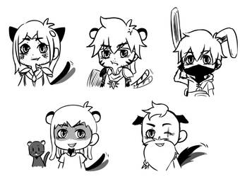 Sketch aventures - Animals by Feliinia