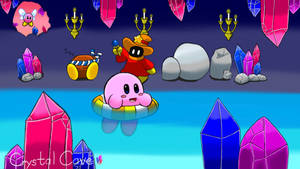 Kirby Level Concept Crystal Cave