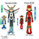REDESIGN Tenshii and Fiore by SapphireGemNetwork