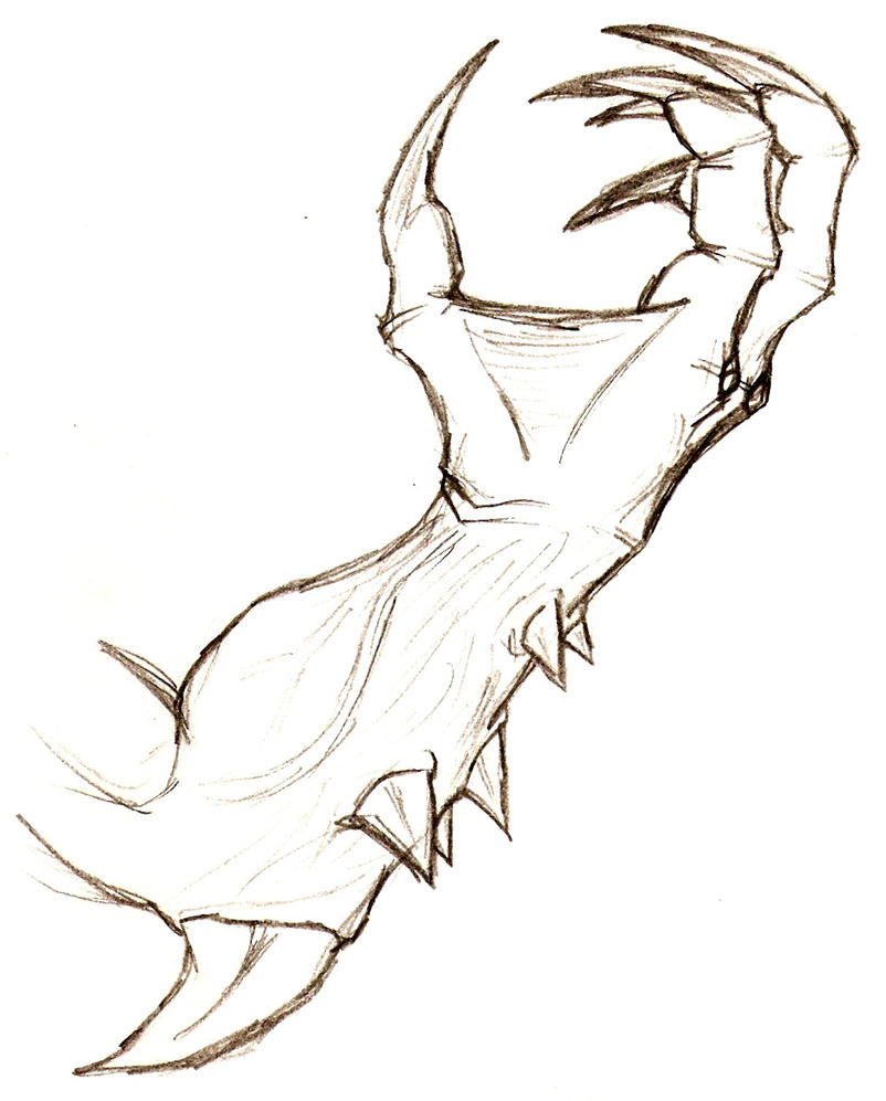 D Line Drawings : Demon arm by thanatos on deviantart
