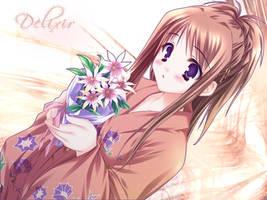 Flower Girl Anime 2 Wallpaper by delixir