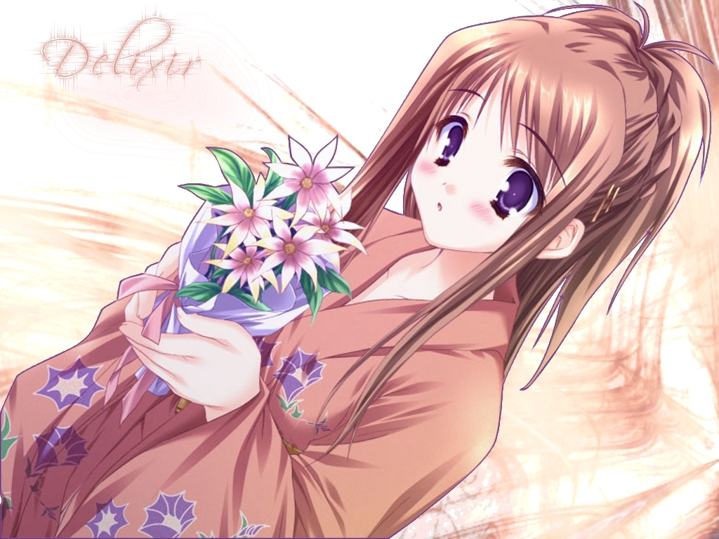 anime girl wallpaper border - photo #4