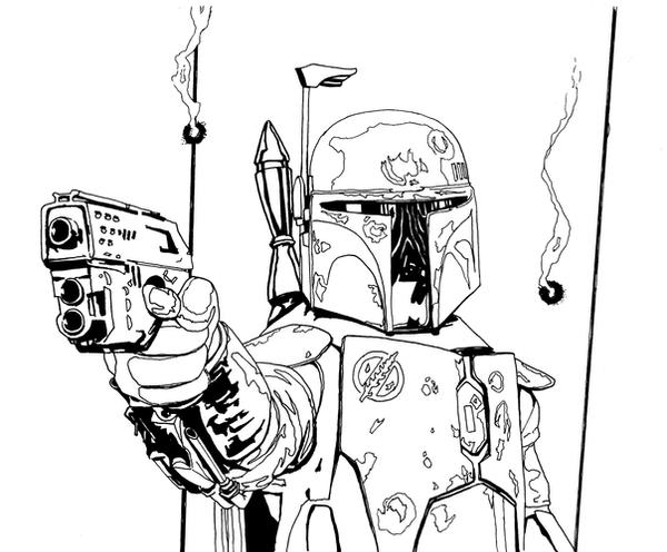 Mandalorian coloring pages coloring pages for Jango fett coloring pages