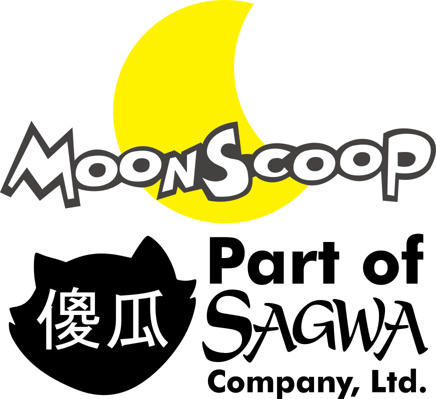 moonscoop logo with the sagwa company byline by