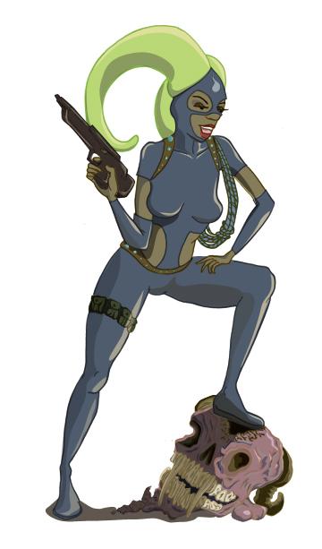 Alien Hunter Dante by rabidkiwi