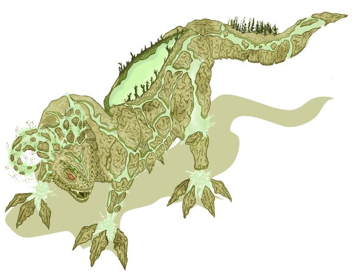 Earthquake Dragon by rabidkiwi