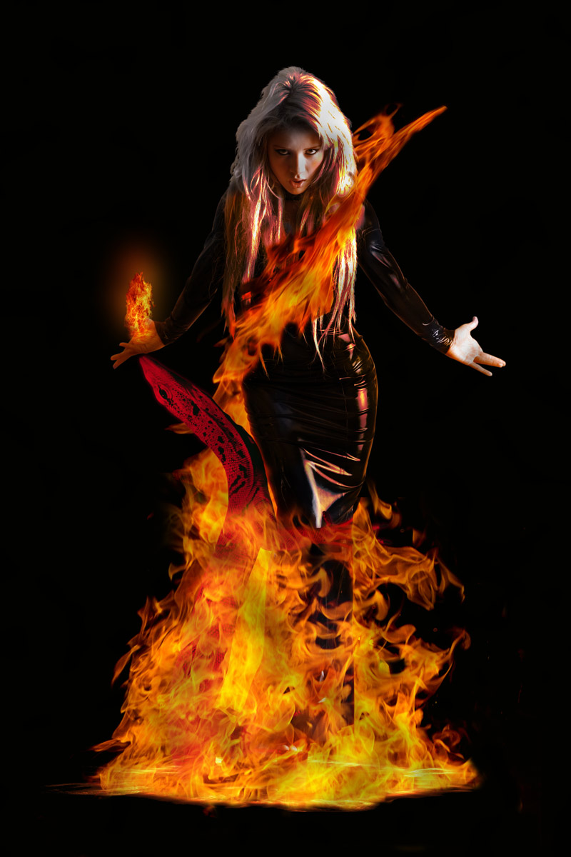 Dancing in the fire with the red salamander by Artculpit ...