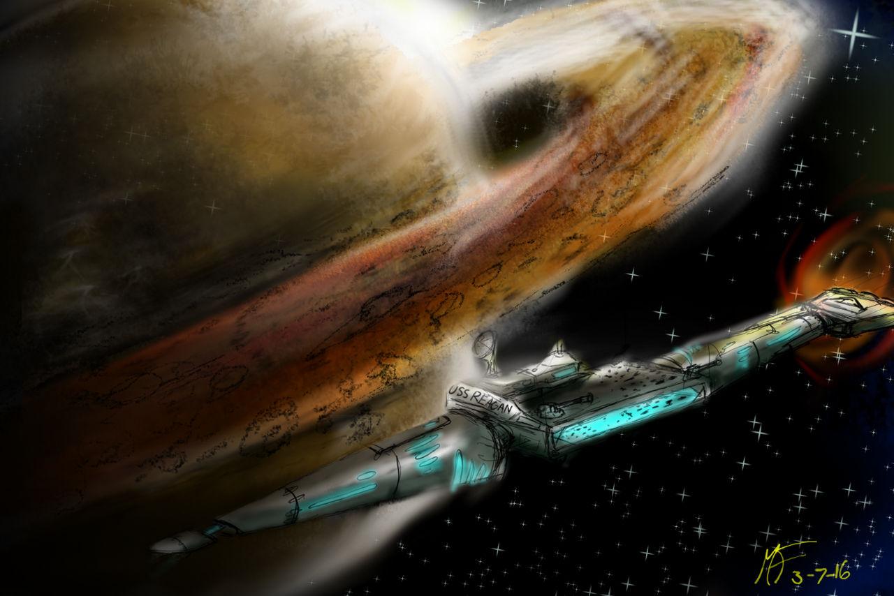 Saturn's Flag Ship