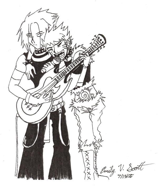 Kareoke with Sasuke and Naruto