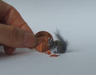 Grey Squirrel by AnyaStone