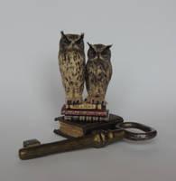 Miniature Eagle owls
