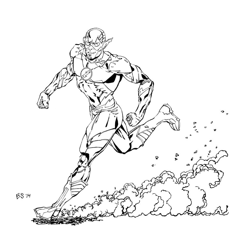 The Flash Line Art : Flash lineart by bjsnider on deviantart