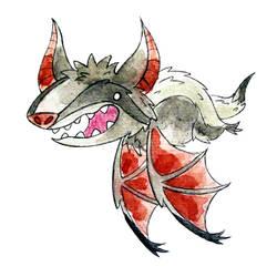 Monster of the Day 1002 Badger Bat Monster! by jurries21