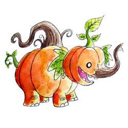 Monster of the Day #1034 Elephant Pumpkin Monster!