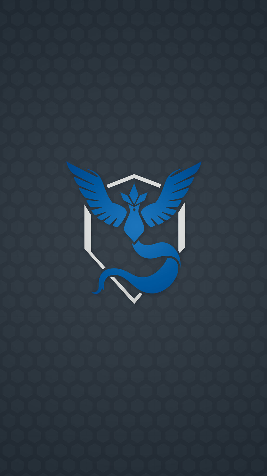 Pokemon Go Team Mystic Patterned Wallpaper By Interestingjohn On