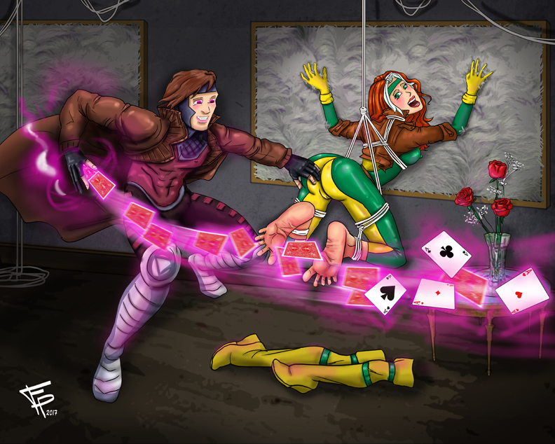 Gambit and Rogue Tickles by Fantasy-Play