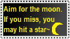 Aim For The Moon Stamp by MidnightTheUmbreon