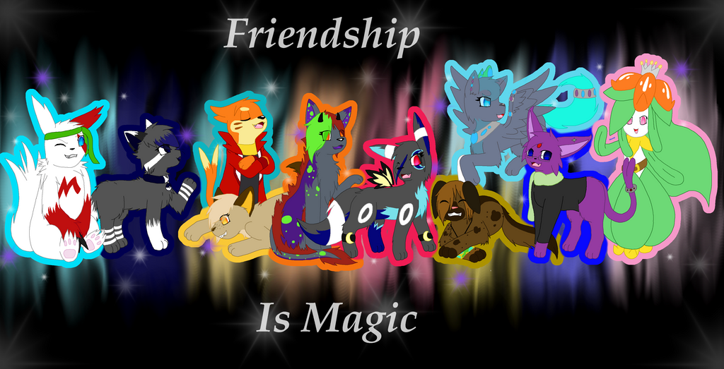 Group 2014 Friends Picture - Finally Finished by MidnightTheUmbreon