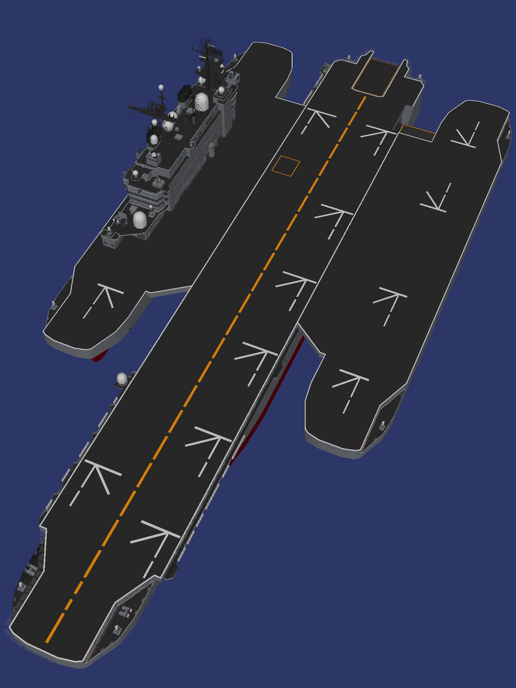 Trimaran aircraft carrier by kcida10 on DeviantArt