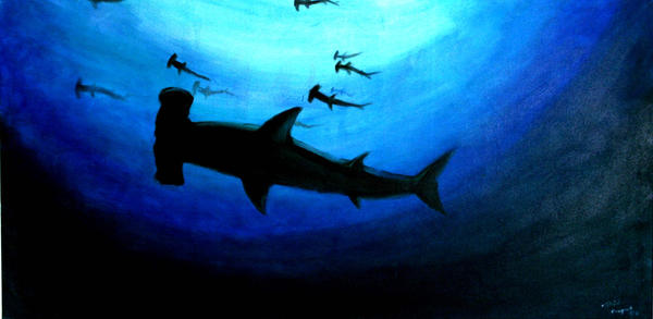 Shark Attack Painting iPhone 5 wallpapers and Backgrounds 640 x ...