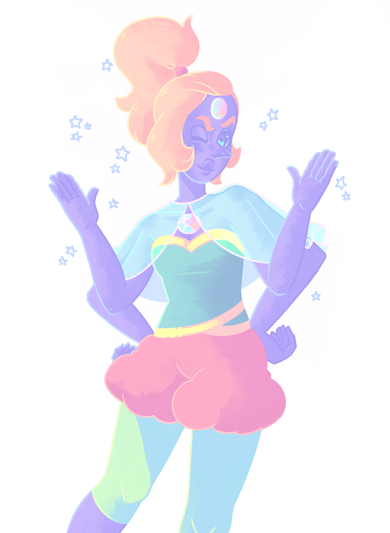 i bet they used to goof around a lot as opal  Steven Universe  © Rebecca Sugar Artwork  © me