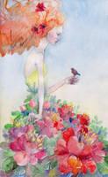 with bird by Konnova