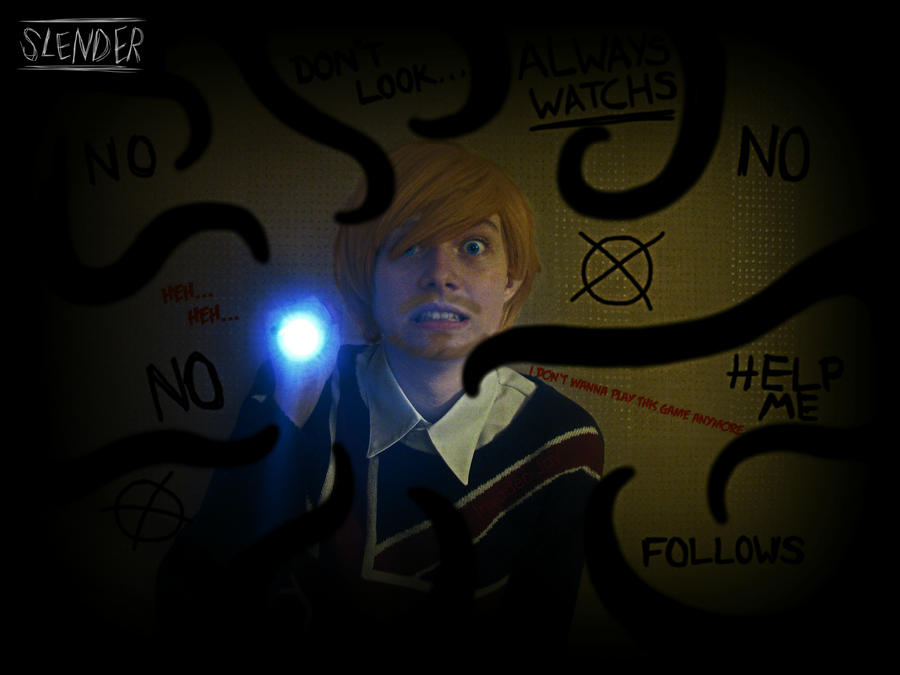 PewDiePie Cosplay: Slender - I don't  wanna play by Invader-Jay