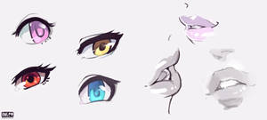 Eyes and Lips Doodles