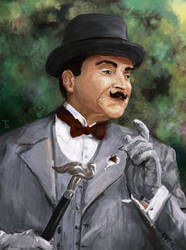 David Suchet as Hercule Poirot by bar-t