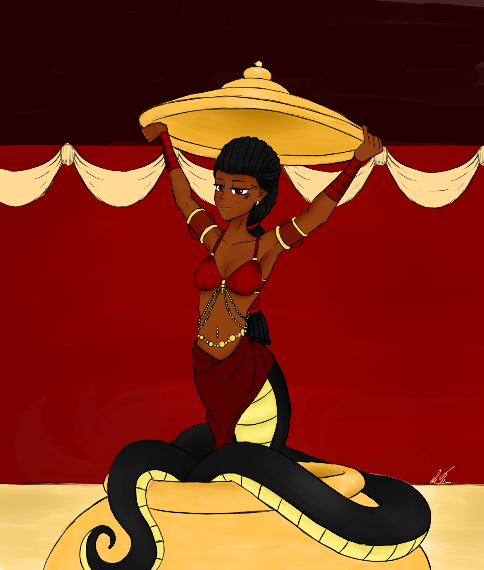 Kem Aspis - Dance Of The Lamia by SirFlairTheFabulous