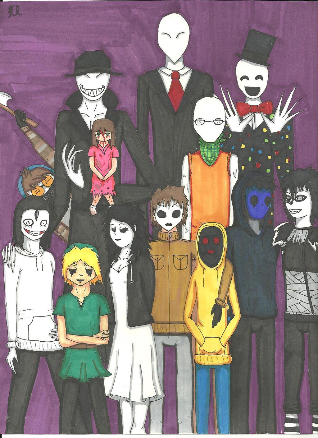 CreepyPasta Family by Bullwoman on DeviantArt