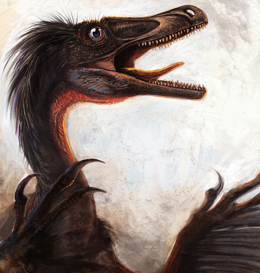 Velociraptor mongoliensis by cheungchungtat