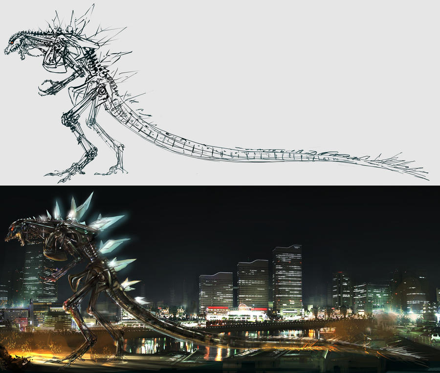 Godzilla skeleton by cheungchungtat on DeviantArt