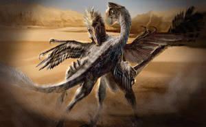 Velociraptor VS. Oviraptor by cheungchungtat