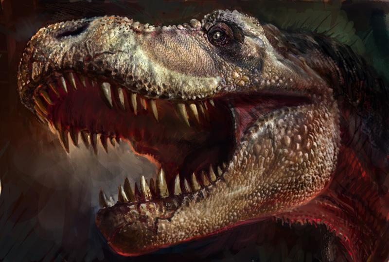 Tzekel'Khan, guerrero primal Color_drafit_of_t_rex_head_by_cheungchungtat-d38kg15