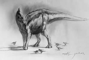 Saurolophus angustirostris by cheungchungtat