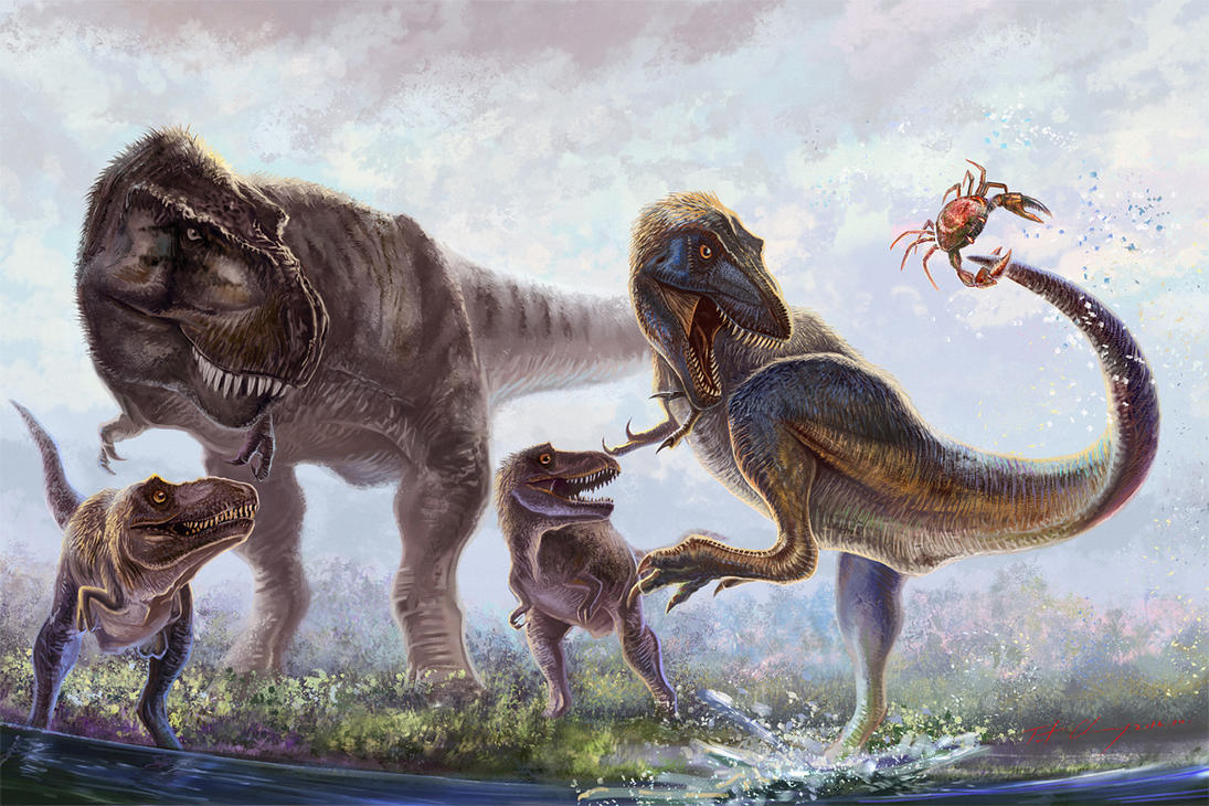 Awesome Paleoart  Little_rex_adventures_by_cheungchungtat-d5ipe3u