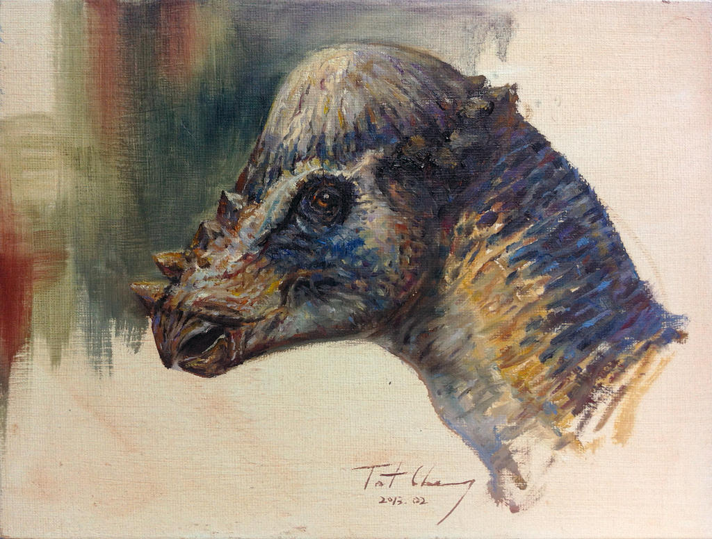 Study of JP2 Pachycephalosaurus Head by cheungchungtat