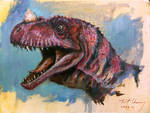 Study of JP3 Ceratosaurus Head