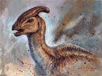 Female Parasaurolophus Head