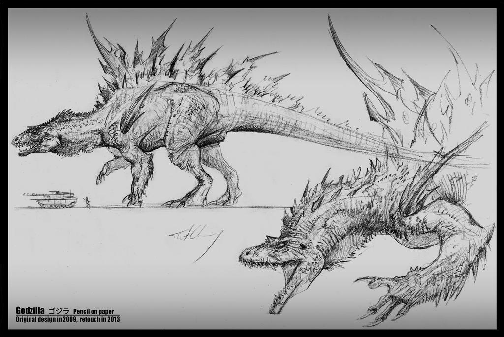 Godzilla -- Spinosaurus form by cheungchungtat on DeviantArt
