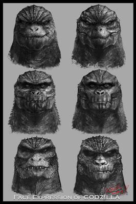 Face Expression of Godzilla