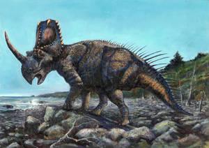At the Coast of Inland Sea -- Centrosaurus apertus