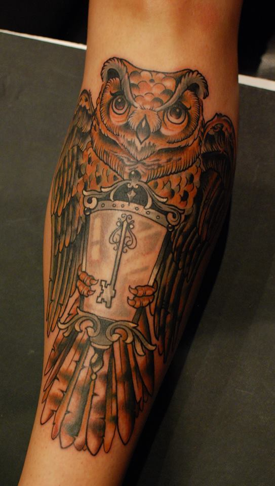 Neo Traditional Art Neo traditional owl by alex