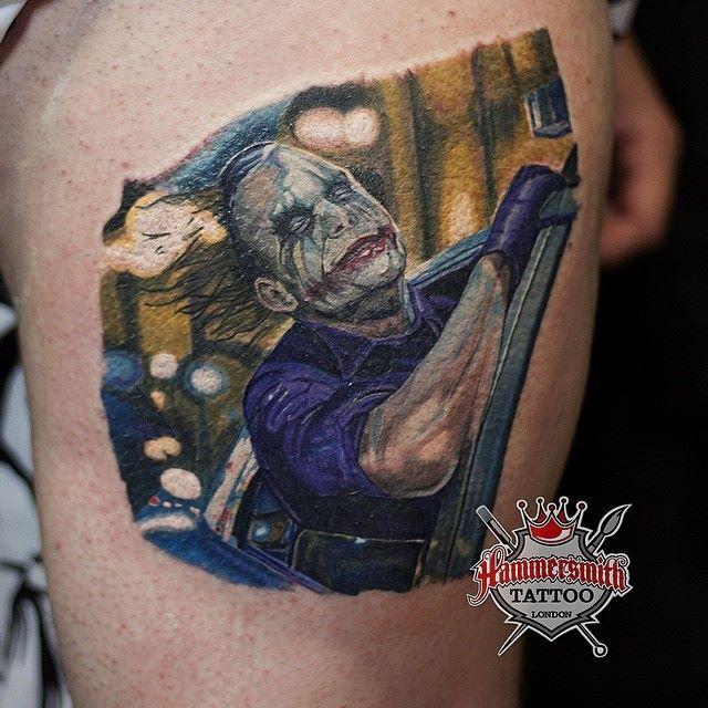 Batman and joker tattoo for Joker batman tattoo