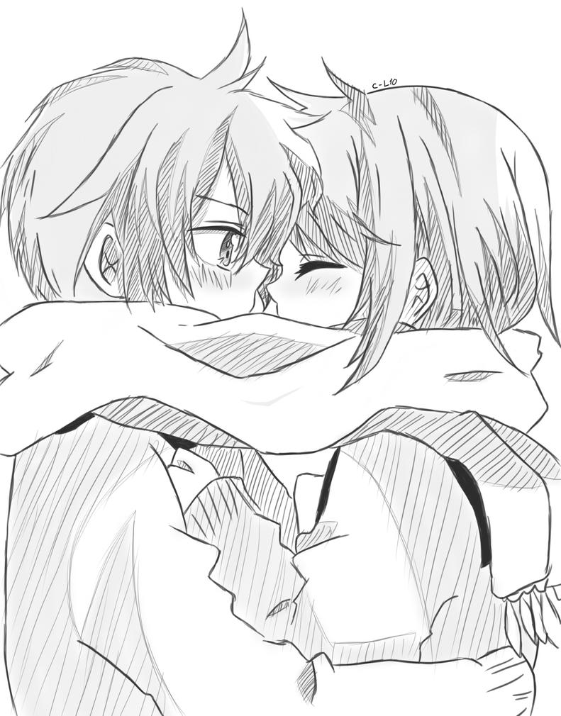 anime couples coloring pages - original cooold by chibi len10 on deviantart
