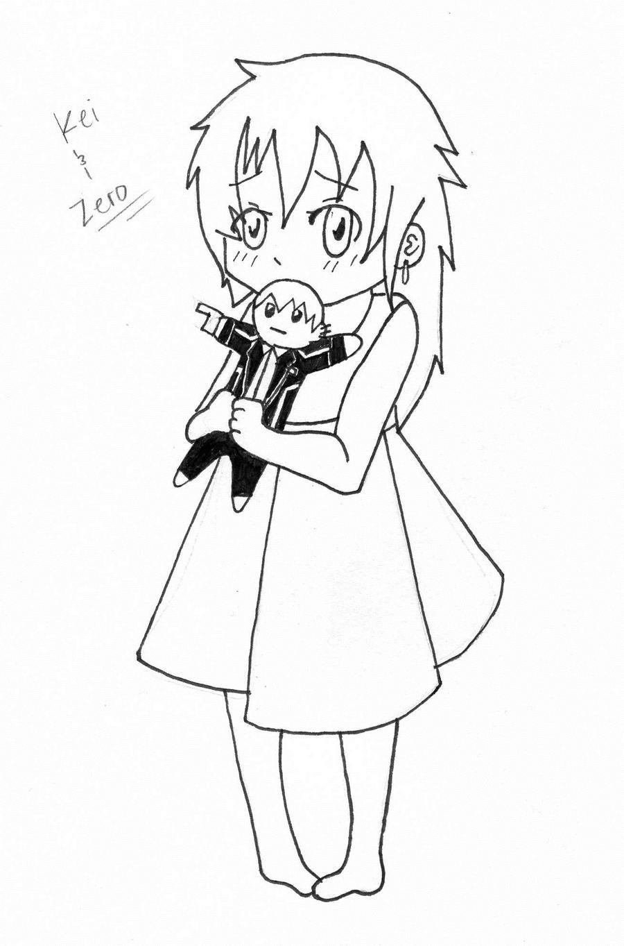 Line Art Zero : Kei line art zero doll by s alaina on deviantart