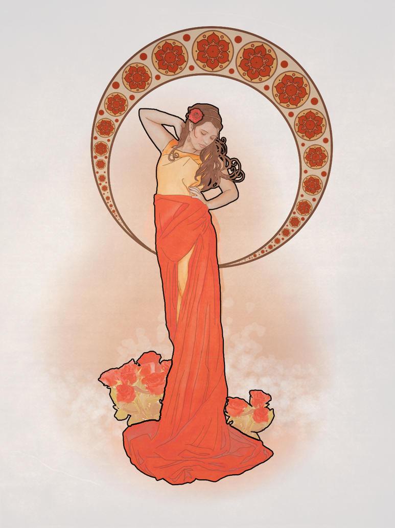Rose. Art Nouveau by s0alaina