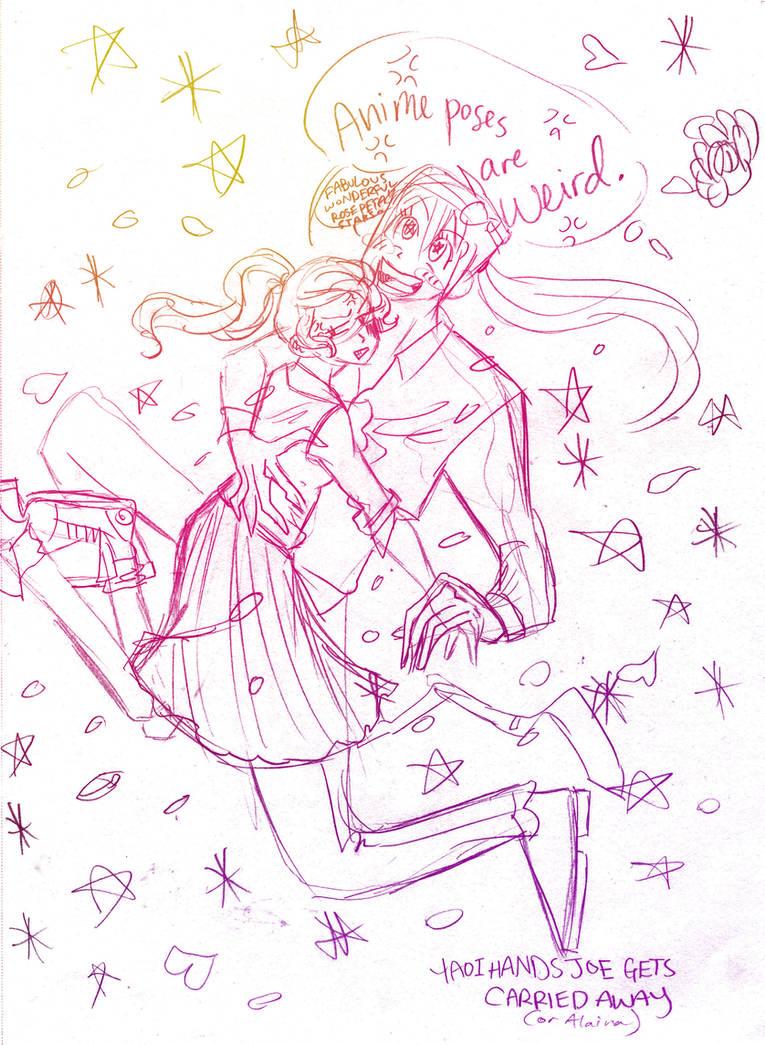 Anime poses are weird by s0alaina