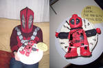Lego Deadpool Cake by s0alaina